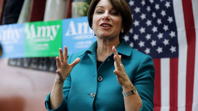 Amy Klobuchar has withdrawn from the race to take on Donald Trump later this year