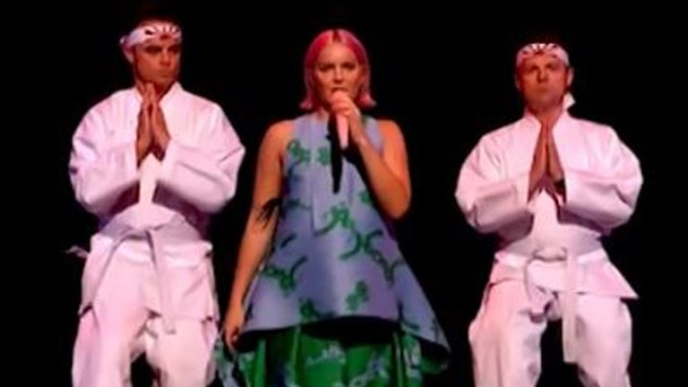 Singer Anne-Marie and ITV have apologised after her performance on Saturday Night Takeaway, in which Ant and Dec wore Japan's Rising Sun flag.