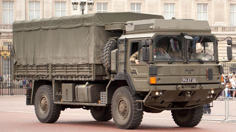 Army trucks will be used to distribute protective equipment to NHS staff as the supply chain struggles to cope