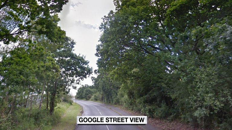 The newborn was discovered in woodland close to Shore Road in Hythe, near Southampton
