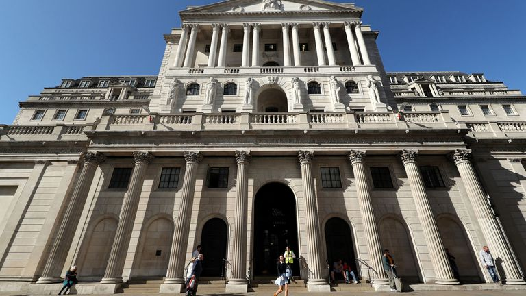 File photo dated 20/9/2019 of the Bank of England, in the City of London, which has announced that it has cut its main interest rate to 0.25% from 0.75%. PA Photo. Issue date: Wednesday March 11, 2020. See PA story CITY Rates. Photo credit should read: Yui Mok/PA Wire
