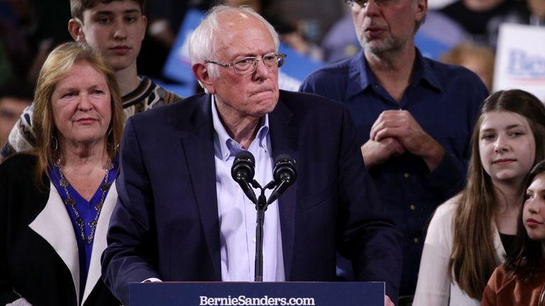 Democratic presidential candidate, Vermont Senator Bernie Sanders