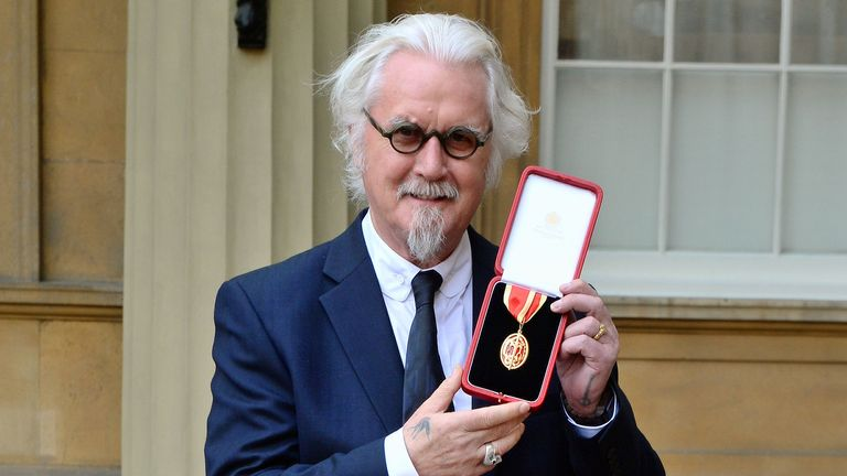 Billy Connolly was knighted in 2017
