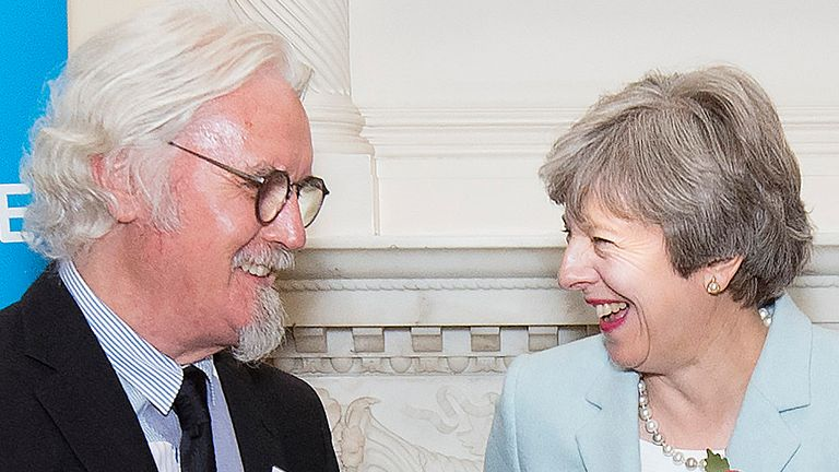 Sir Billy Connolly and Theresa May