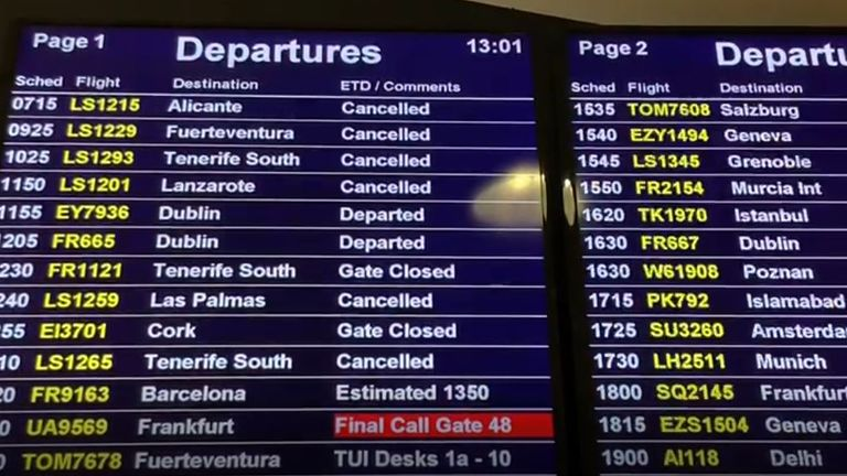 A number of flights from Birmingham Airport have been cancelled today