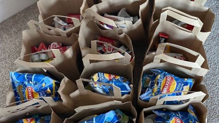 The Bootle Arms has been giving out care packages to elderly people in the community