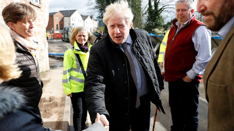 The visit came after three weeks of flooding have devastated towns and communities across the country