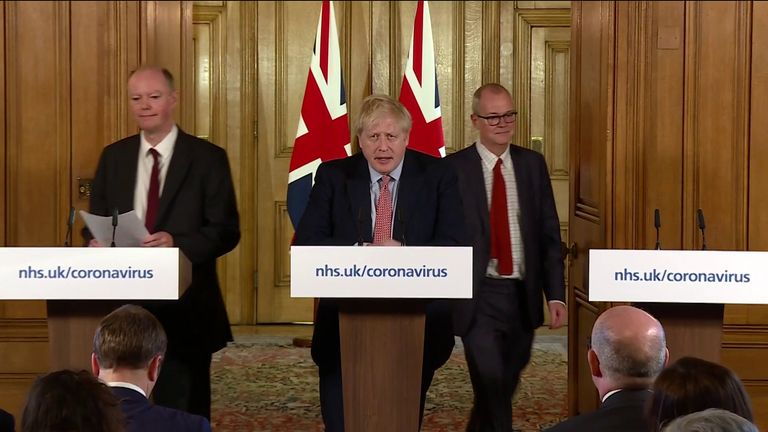 Boris Johnson has announced that the UK is movng from a 'contain' phase to a 'delay' phase in its response to the coronavirus epidemic.