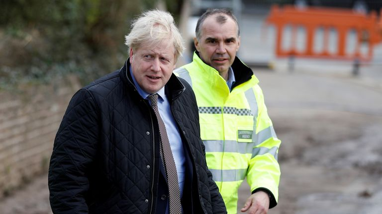 Boris Johnson visits Bewdley to see recovery efforts following recent flooding