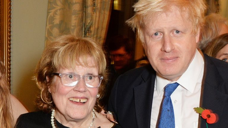 Boris Johnson and his mother Charlotte in 2014