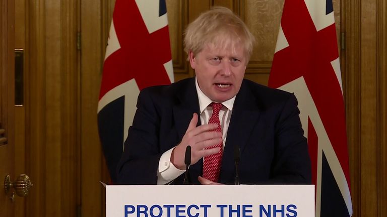 Boris Johnson admits he's taking away citizens' 'inalienable right' to go to the pub, but that it is necessary to defeat coronavirus outbreak