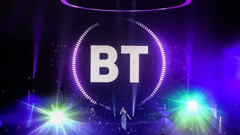 LONDON, ENGLAND - OCTOBER 17: Jess Glynne stars in a record-breaking drone display to celebrate BT's new brand purpose 'Beyond Limits' at Wembley Arena on October 17, 2019 in London, England. (Photo by Stuart C. Wilson/Getty Images for BT)