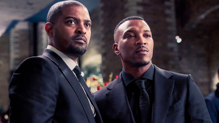 Bulletproof stars Noel Clarke (left) and Ashley Walters. Pic: ©Sky UK Ltd
