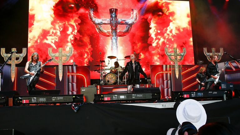 MELBOURNE, AUSTRALIA - MARCH 11: Judas Priest performs at Download Festival 2019 at Flemington Racecourse on March 11, 2019 in Melbourne, Australia. (Photo by Sam Tabone/WireImage)
