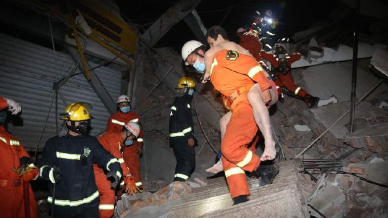 Dozens have been rescued already. Pic: Weibo/Emergency Management Department