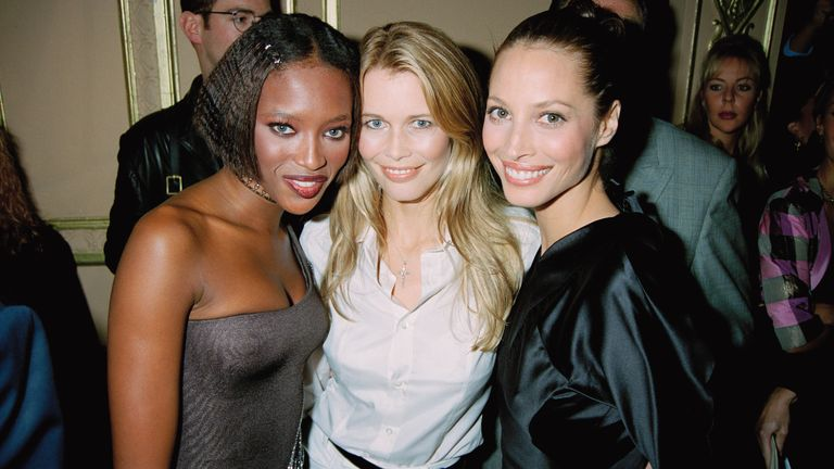 Half of the 'Big Six' (L-R) Naomi Campbell, Schiffer and Christy Turlington