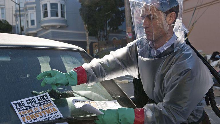 Jude Law in Contagion. Pic: Moviestore/Shutterstock
