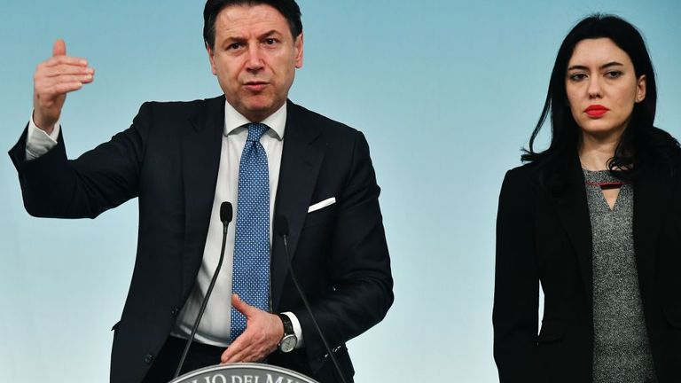 Prime minister Conte and education minister Lucia Azzolina announced the closure plan