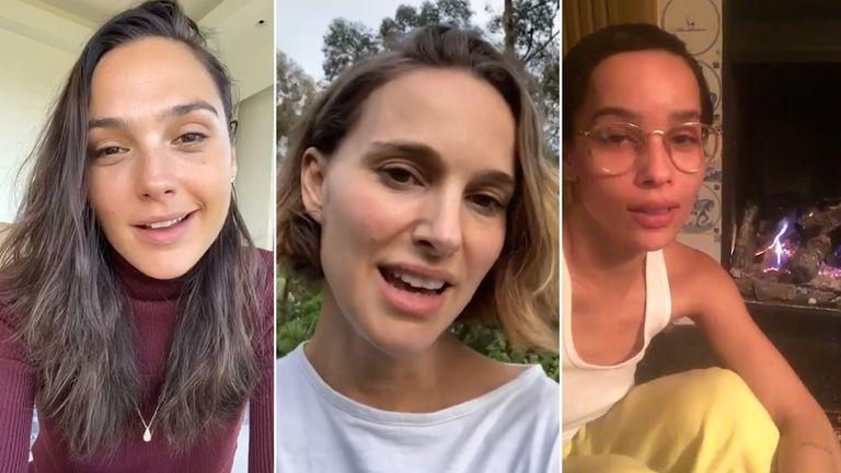 Gal Gadot, Natalie Portman and Zoe Kravitz