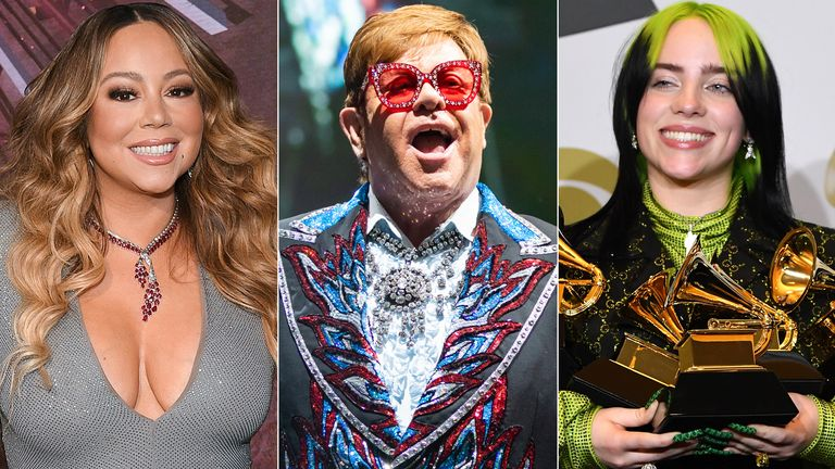 Mariah Carey, Elton John, Billie Eilish