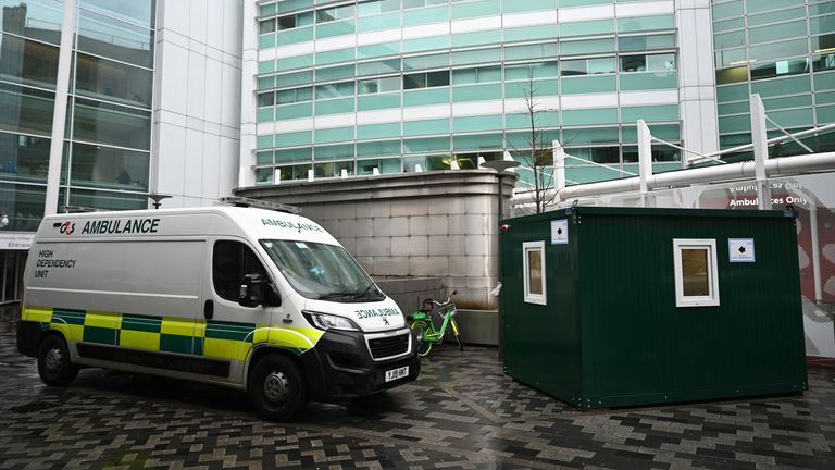 An NHS Coronavirus Pod at University College Hospital in London, Britain, 04 March 2020. More people have tested positive for the SARS-CoV-2 coronavirus in Britain, bringing the total number of cases to at least 85 local media reported.  5 Mar 2020