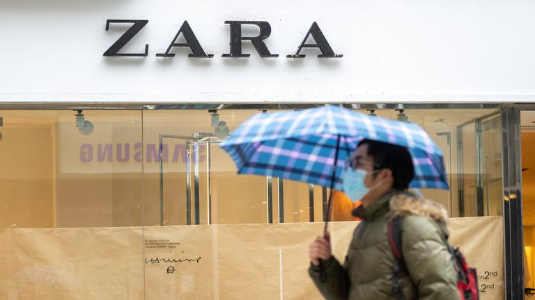 CARDIFF, UNITED KINGDOM - MARCH 18: A general view of fashion retailer Zara in central Cardiff on March 18, 2020 in Cardiff, United Kingdom. The fashion retailer Zara has announced it is to temporarily close 3785 stores due to the coronavirus outbreak causing a plunge in sales. Coronavirus (Covid-19) has spread to over 170 countries in a matter of weeks, claiming over 8,000 lives and infecting over 200,000