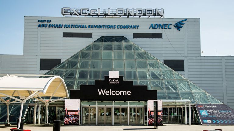 The London ExCel centre may be turned into a makeshift NHS hospital