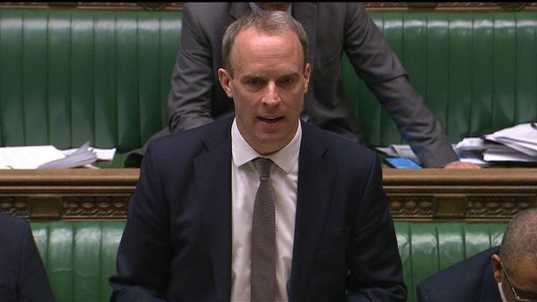 Foreign secretary Dominic Raab has advised UK nationals against all global non-essential travel