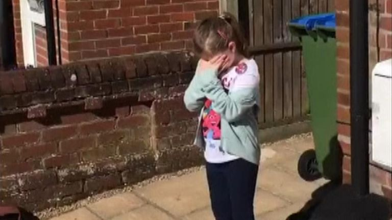 A whole street sang 'Happy Birthday' to Sophia, an 8-year-old girl on lockdown in her house.