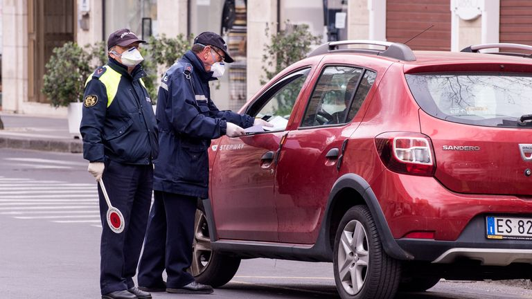 Preventive measures in the city include more checks on drivers by the municipal police in Catania, Italy
