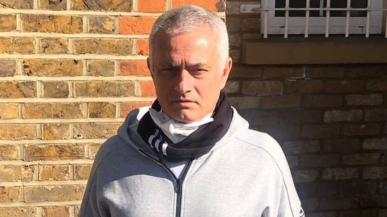 Mourinho spent the day preparing food parcels