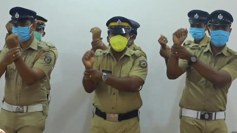 Police in Kerala, India have come up with a novel way of educating the public about how to prevent the spread of coronavirus