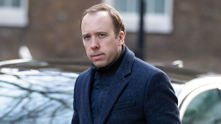 Health Secretary Matt Hancock arrives at 10 Downing Street, London, as the UK's coronavirus death toll reached 144 as of 1pm on Thursday. PA Photo. Picture date: Friday March 20, 2020. See PA story HEALTH Coronavirus. Photo credit should read: Aaron Chown/PA Wire