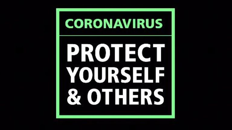 A new govt advert shows how to help stop the spread of coronavirus