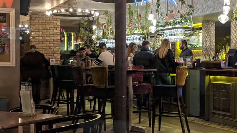 People in the Slug and Lettuce bar in Worthing. Pic: Lucy Goacher/@goachwriter