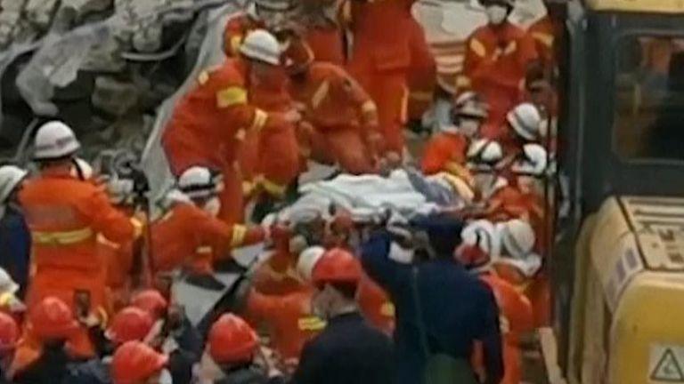 Man rescued from collapsed coronavirus quarantine hotel in China