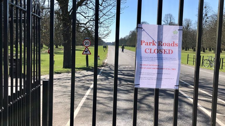 London's Royal Parks are closed to vehicles