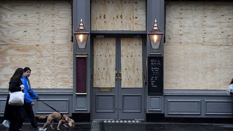 Pubs and non-essential shops have closed their doors to the public nationwide