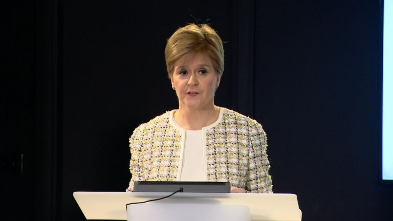 Scottish First Minister Nicola Sturgeon has warned that people should not assume that they will open again before summer