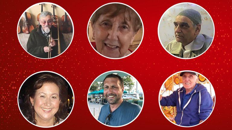 (clockwise L-R) Michael Gerard, Marita Edwards, Basharat Hussain, Leonard Gibson, Craig Ruston and Kimberley Finlayson