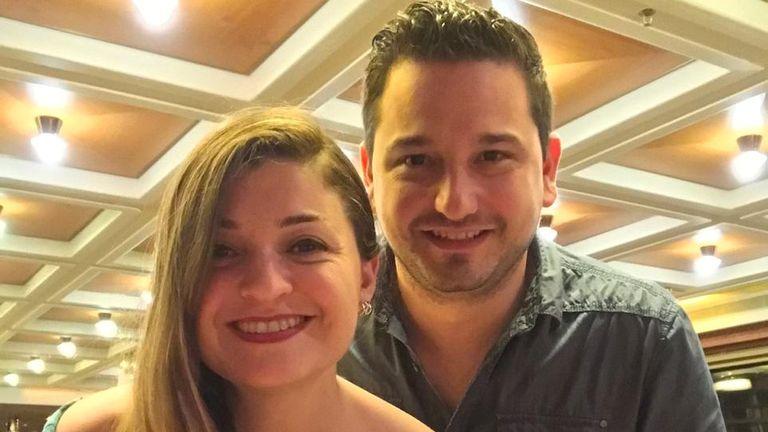 Yadira Garza and Joel Gonzalez are on their honeymoon on the Zaandam