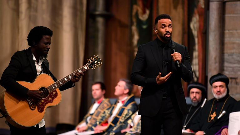 Craig David performed at Westminster Abbey
