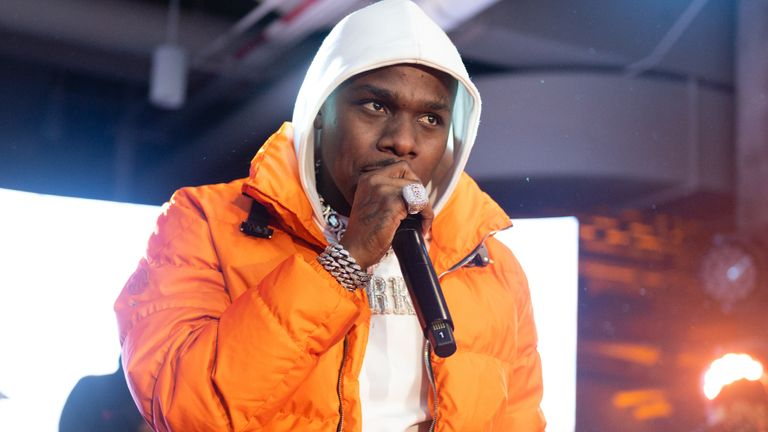 DaBaby performs at the Hennessy All-Star Saturday Night with Nas, A$AP Ferg, & Da Baby at The Old Post Office on February 15, 2020 in Chicago, Illinois