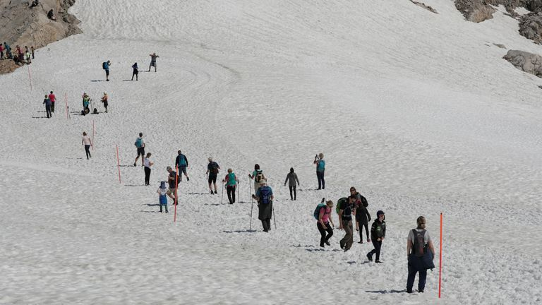 The Dachstein area is popular with hikers. File pic