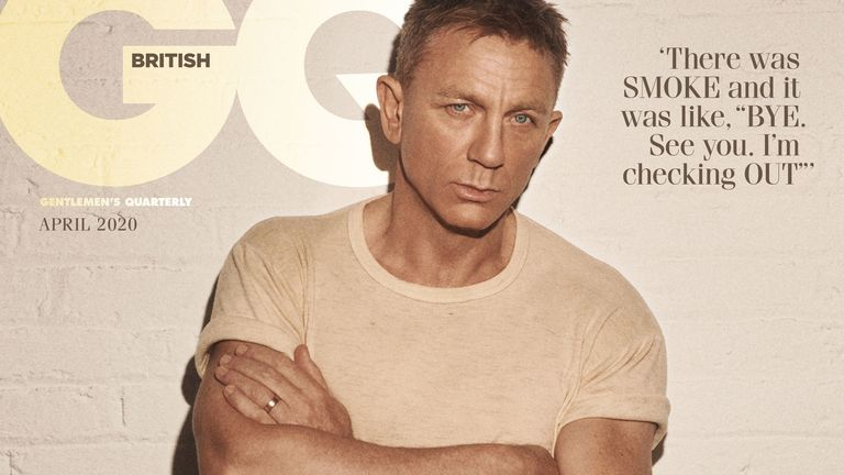 Daniel Craig featuring on the cover of the April issue of British GQ in James Bond exclusive. Pic: Lachlan Bailey/GQ magazine