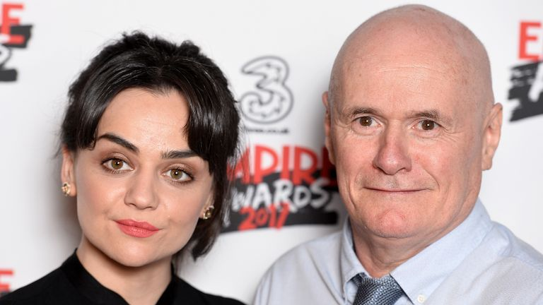 Johns stars alongside Hayley Squires, who plays a young woman also signing on