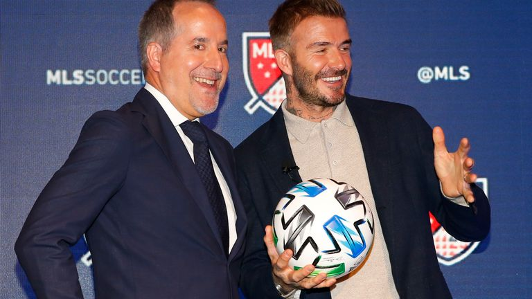 David Beckham and Miami businessman Jorge Mas co-won the club