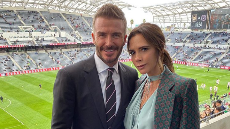 David Beckham is joined by his wife Victoria at Inter Miami's first game on March 1 (credit: Instagram @victoriabeckham)