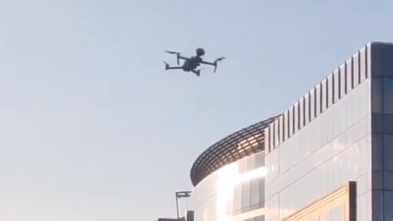 Police drones are used in Brussels to remind people out and about to remain within social distancing guidelines.