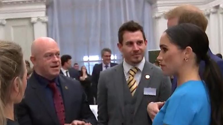 Duke and Duchess chat with former Eastenders star Ross Kemp